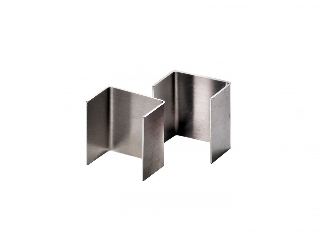 Verbinder für Fassadenrinnen in Aluminium