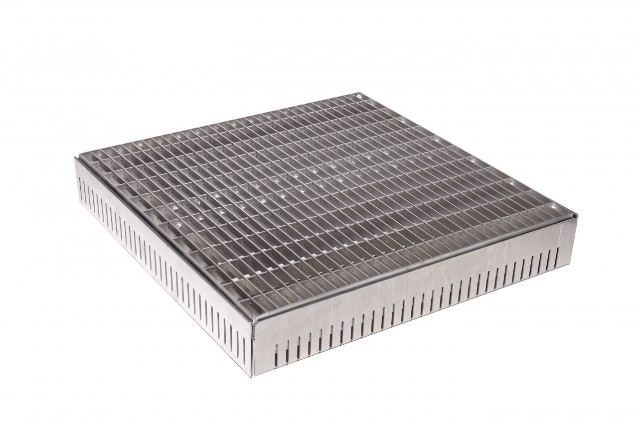 Einlaufschächte mit Abdeckung Typ E3, Gitterrost MW 30/10 mm - Einlaufschacht
